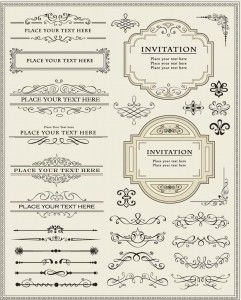 130 best wedding invites images on pinterest arabesque printables calligraphic decorative elements set vector stopboris Images