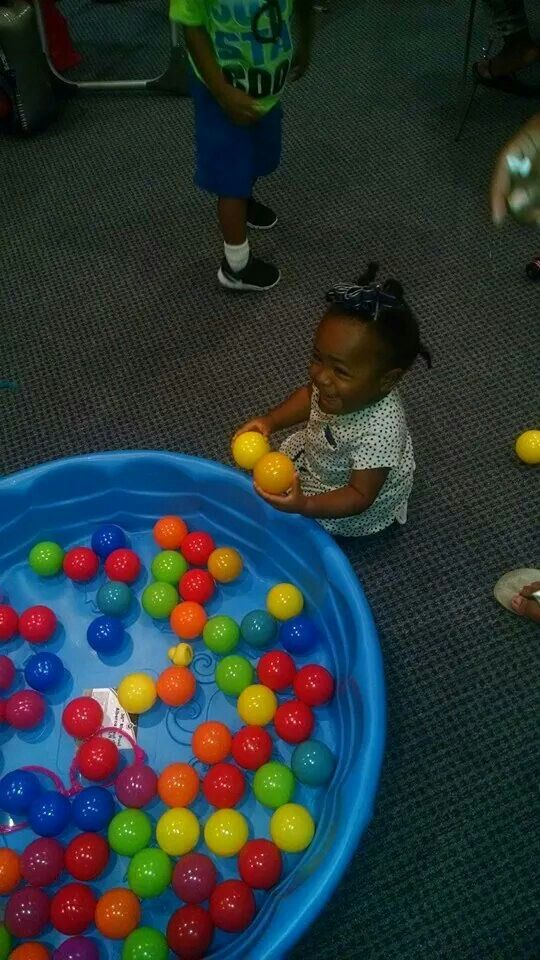 Entertainment @the 1yr old party pool(tys r us)and balls($11@Wal-Mart)