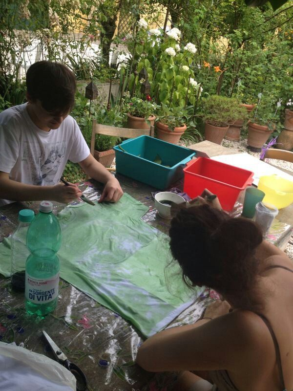 Tye dye green t-shirt
