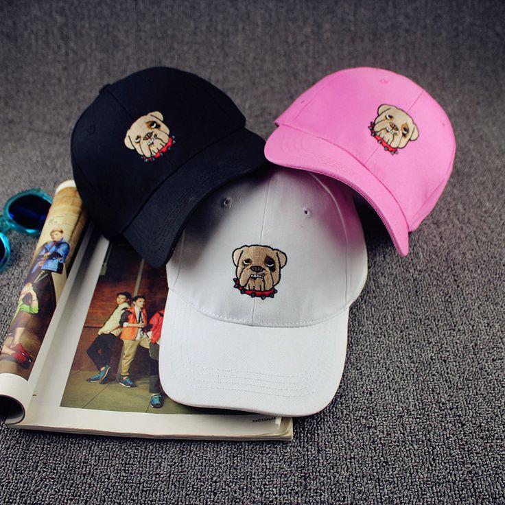 harajuku snapback hip hop 2017 korean new spring summer baseball cap ulzzang cartoon dog head embroidered baseball cap snapback