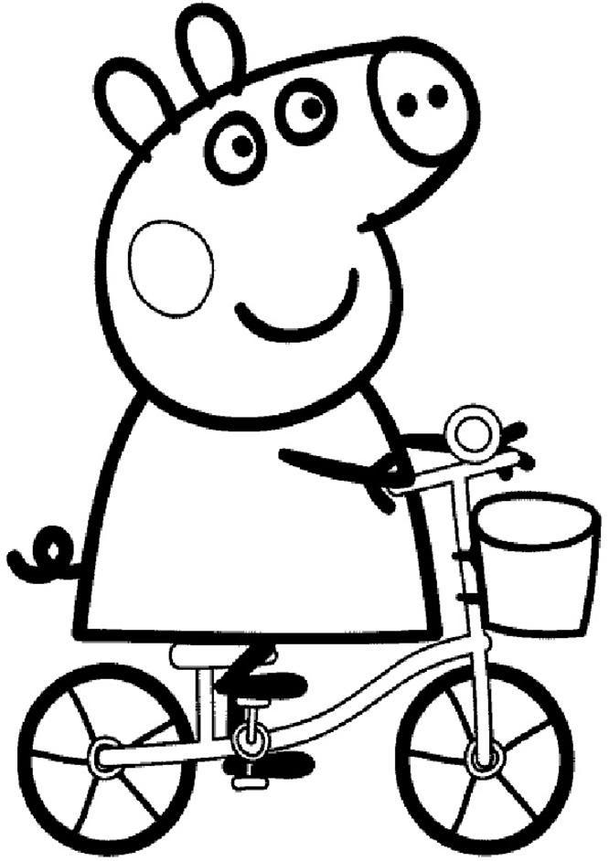 Ausmalbilder Peppa Wutz Fahrrad Ausmalbilder Kinder Kinderfarben Peppa Wutz Geburtstag