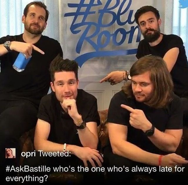 Who's the one who's always late for everything?  That's maybe why the Bastille concert on Saturday started 1 hour later then it should.  Good job Dan.  Love u anyways.