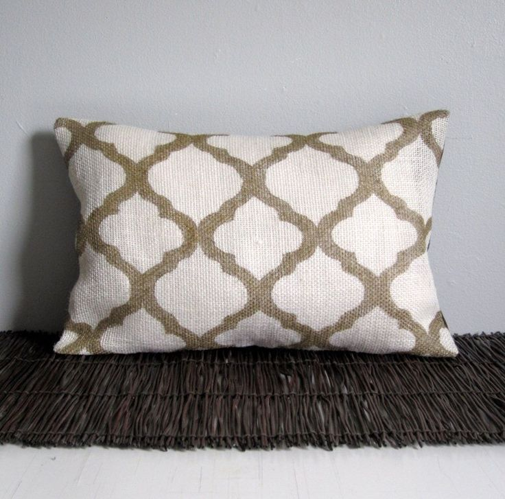 Gold Moroccan Pillow Cover Hand-Painted Burlap Lumbar Pillow 12x18 Gold Marrakech Lattice Pillow Cover by ainthatastitch on Etsy https://www.etsy.com/listing/230055408/gold-moroccan-pillow-cover-hand-painted
