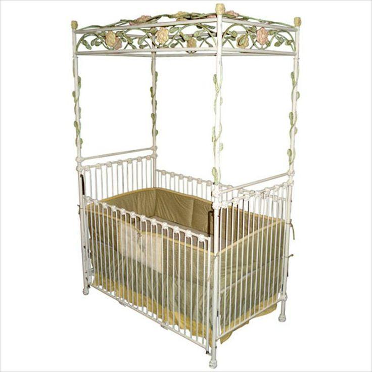 Arbor Iron Canopy Vintage Baby Crib