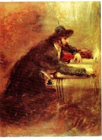 Torah Scribe - Maurycy Gottlieb