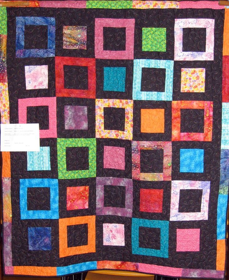 Quilt No:  14  Quilt Name:  Bright 10 Stack & Whack   Made By:  Heather Bennett   Quilted By:  Heather Bennett