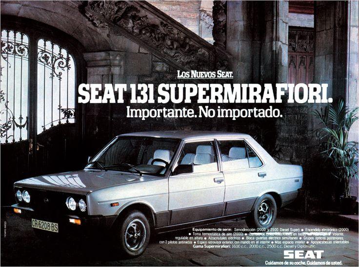 Anuncio Seat 131 Supermirafiori