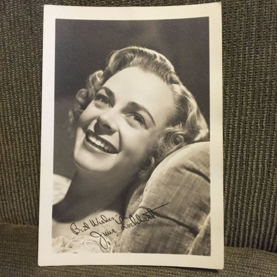 Actress June Lockhart  Printed signed by BaudelaireAntiques
