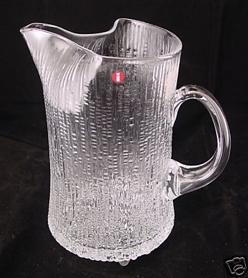 Iittala of Finland Ultima Thule Pattern Pitcher...This pattern is still available but first appeared in 1968