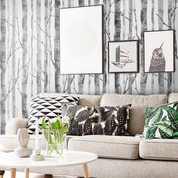 - Detail - Size Modern Birch Tree Peel & Stick Fabric WallPaper has adhesive back with repositionable and removable. It also can be re-applied over and over and adhesive does not weaken or strengthen