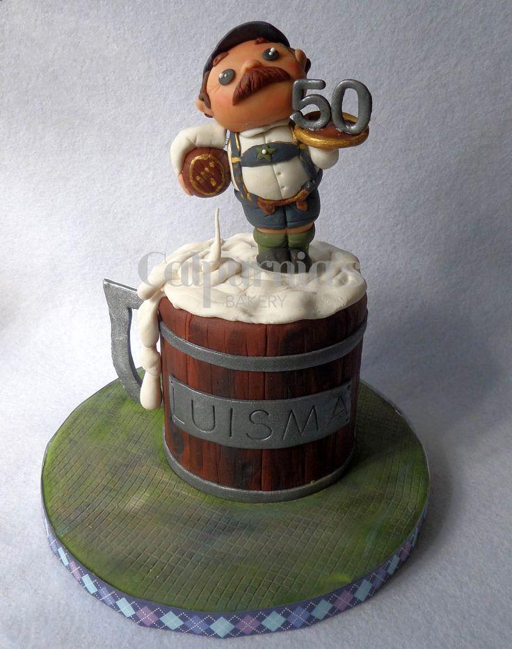 Beer fondant cake