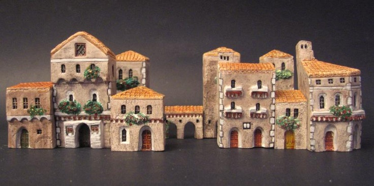 Miniature casette Medievali Mini terre.  (casette in miniatura, little houses, mini land, miniature)