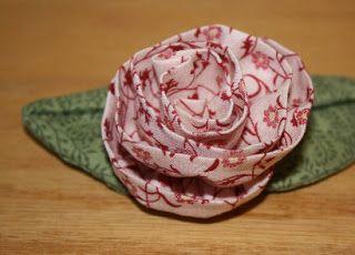 Tutorial rosa de tela.