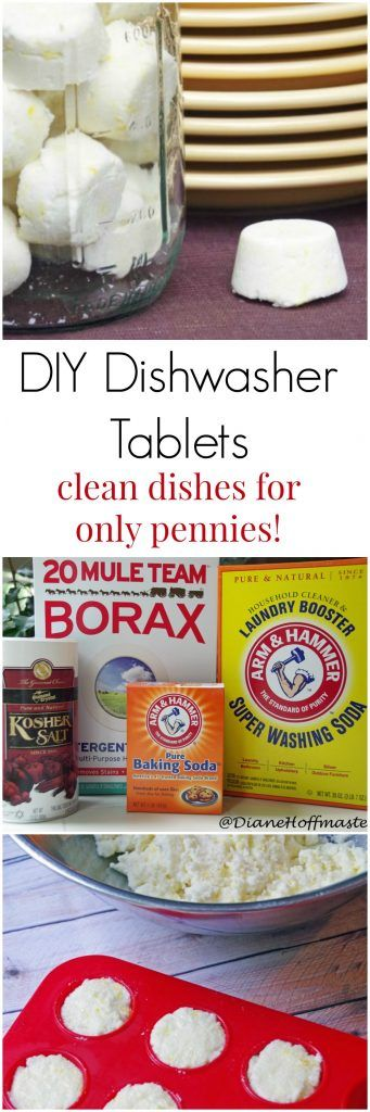 DIY Dishwasher Tablets Give You Clean Dishes for Only Pennies! #frugal #kitchenhacks #diy