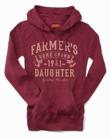 Farm Boy Co-op & Feed Co., LLC - Farmer's Daughter Jr. Thermal Hoodie.. I love this!