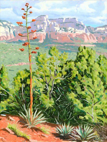 Century Plant Sedona Painting Art Mostly Contemporary