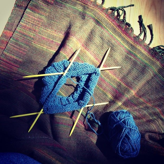 My knitting project is coming along nicely so important to have creative projects to energise and inspire your mind and a wonderful way to relax after a day at work my new post on the blog talks all about it! #blogging #knitting #creativity #create #makeit #make #summer #mornings #happy #heandshe #do