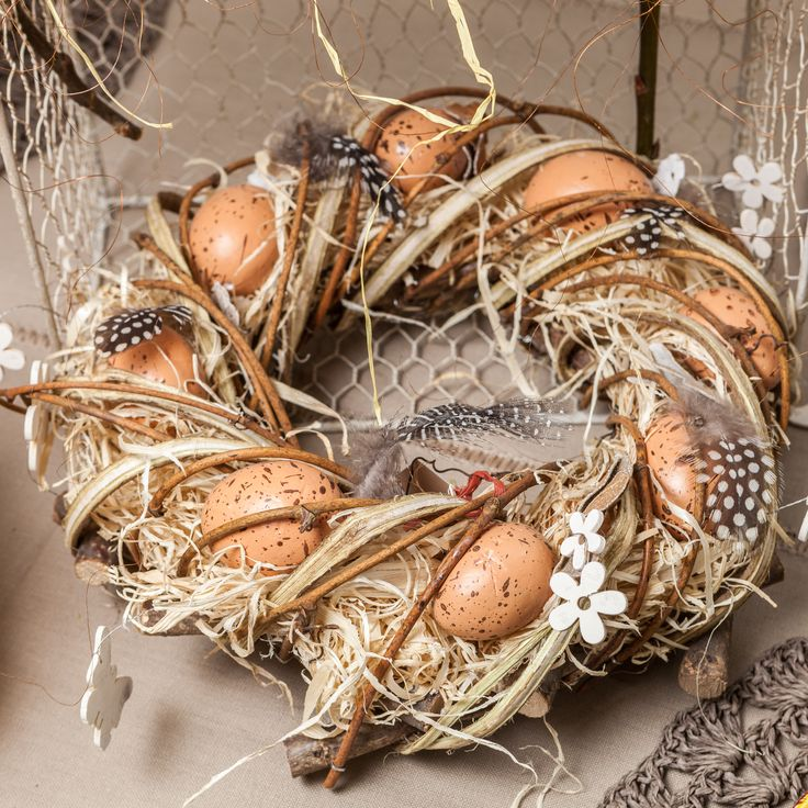 The perfect easter egg wreath in nude colours available NOW - NEW collection