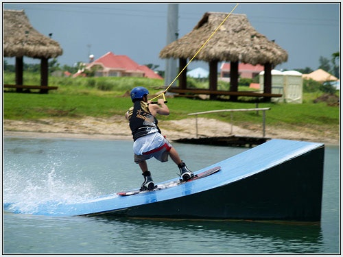 wake boarding at CamSur