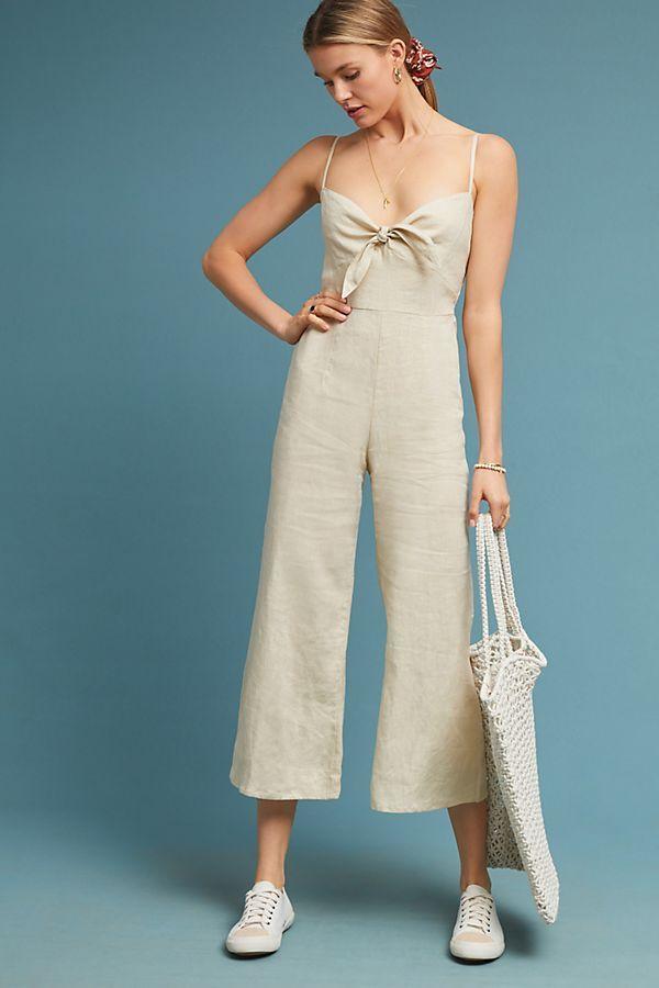 417f3d4983 Slide View  1  Faithfull Cropped Linen Jumpsuit