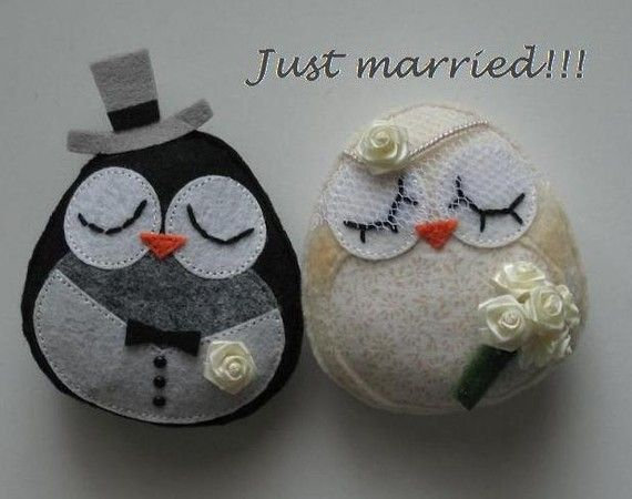 Bride & groom owls.