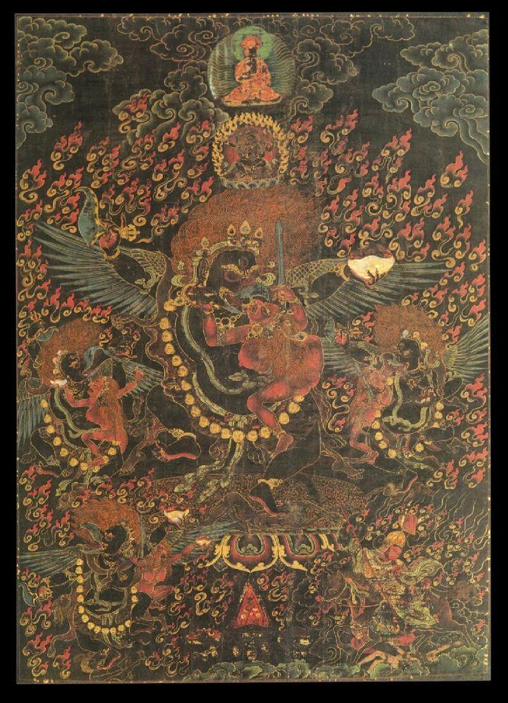 Mahakala Buddhist Protector Kakamukha Raven Faced In