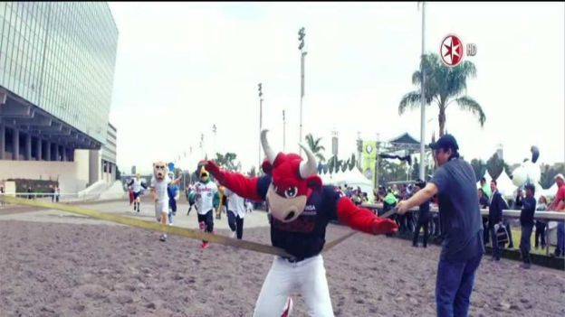 Video: Las botargas de equipos de futbol de la Liga MX y de la Liga Mexicana de Beisbol corrieron también a beneficio de niños con cáncer