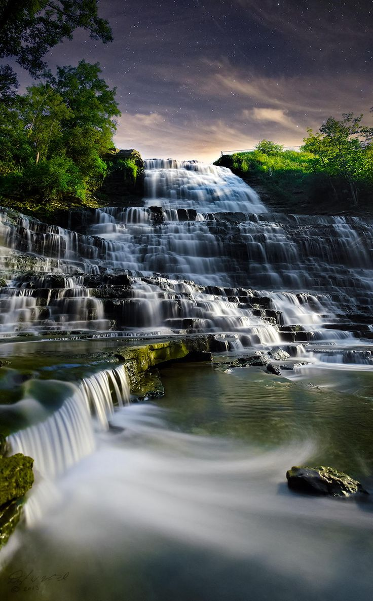 Albion Falls, Hamilton, Ontario, Canada. It doesn't quite look real but if it is it's amazing!