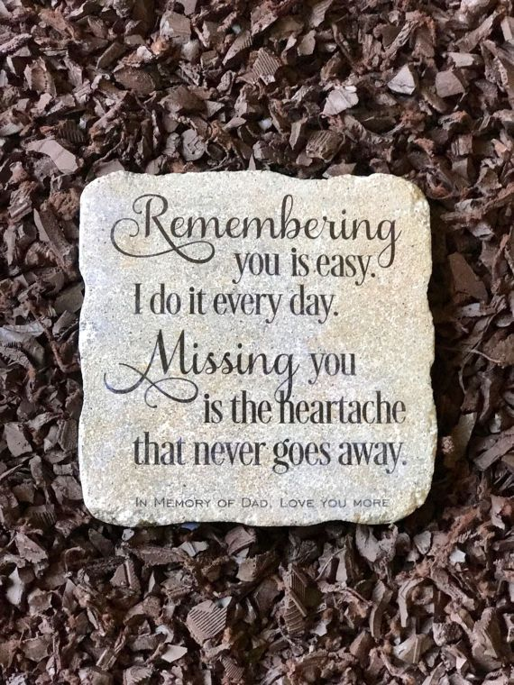 In Remembrance Of In Memory Of Personalized Memorial Garden Memorial Garden Stones Memorial Garden In Memory Of Dad
