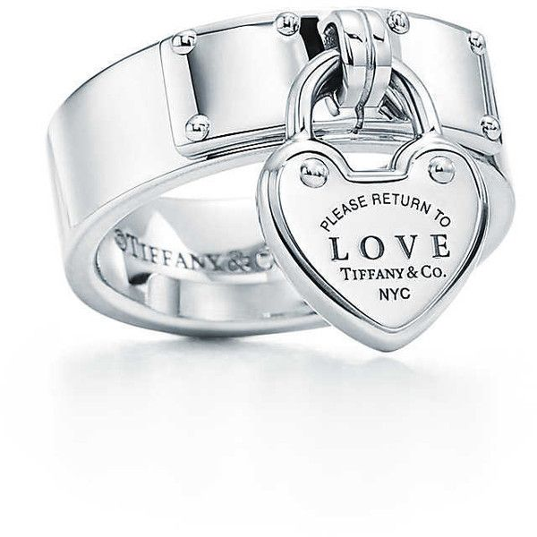 Return to Tiffany Love Lock Ring ($475) ❤ liked on Polyvore featuring jewelry, rings, tiffany co jewellery, sterling silver jewelry, tiffany co jewelry, lock jewelry and tiffany co rings