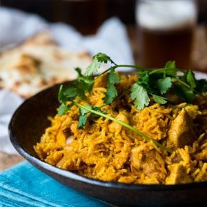 Cheat's chicken biryani