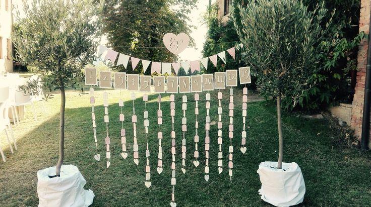 Tableau de mariage shabby.... Amore a prima vista! #peperosadesign #tableau#love #wedding