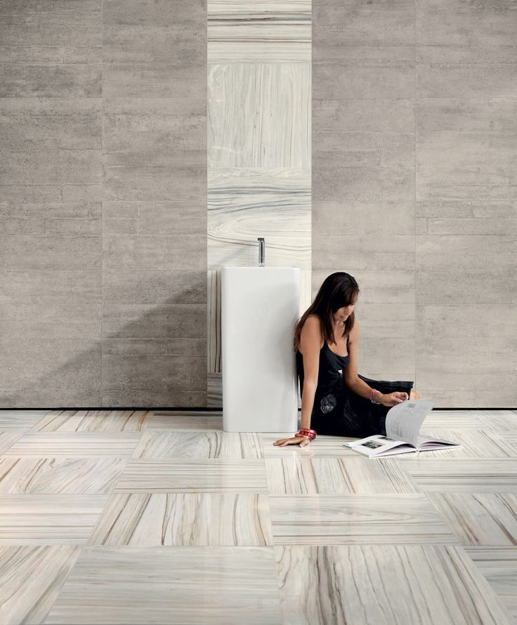 Perini Tiles Blog: Formwork is an innovative collection of porcelain tile that brings together distressed industrial concrete and lush polished marble to create living spaces that look and feel like a warehouse studio, with a stylish edge!