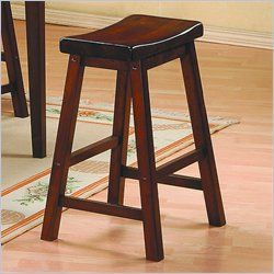 Homelegance Saddleback 18 Seat Height Bar Stool in Warm Cherry Finish (Set of 2) & 7 best Island Saddle Stools images on Pinterest | Bar stools with ... islam-shia.org