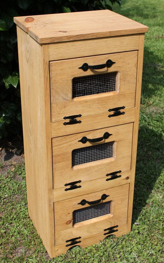 wood vegetable bin potato storage rustic by dlightfuldesigns - Rustikale Primitive Kchen