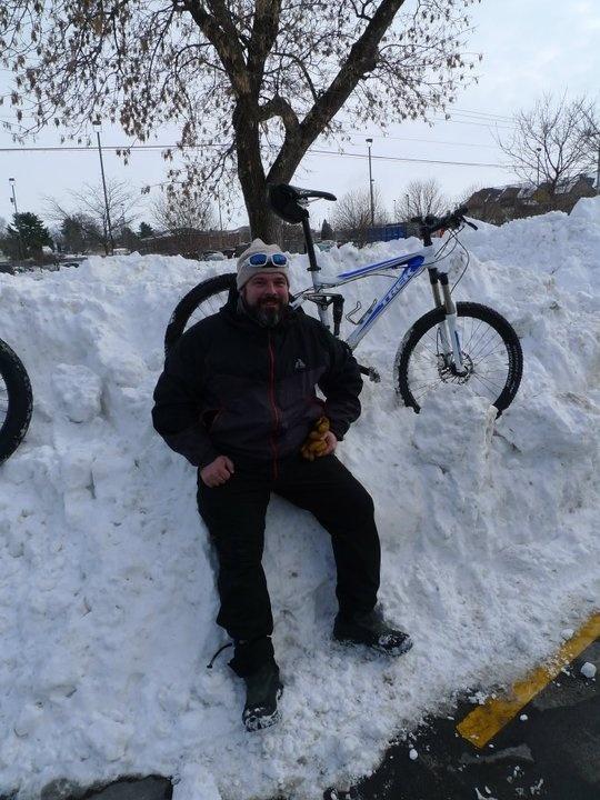 First Ascent Rainier and gloves keeping me warm during an Iowa winter bike ride #EddieBauerGearGiveaway