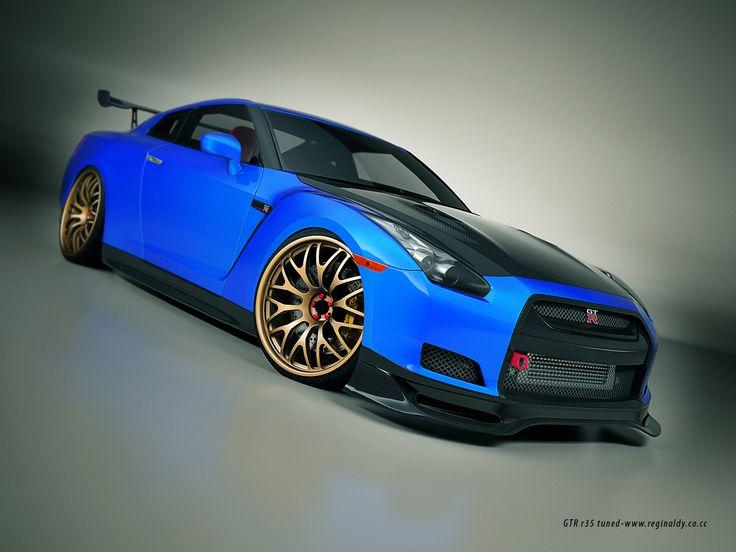 Nissan GTR Nice Blue Color