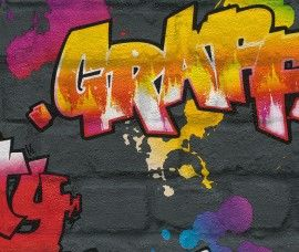 Rasch Kids Club 237801 Graffiti behang | Rasch Kids Club | www.behangwereld.nl
