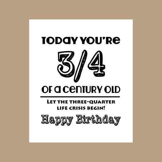 75th Birthday Card 3 4 Century Old Card Milestone Card 1943 Birthday Card Grandpa Birthday Dad Birthday Card Birthday Cards For Friends 50th Birthday Cards
