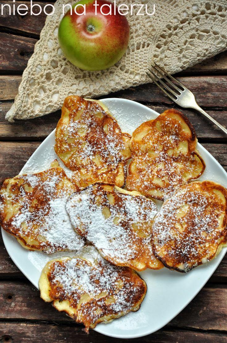 niebo na talerzu: Łatwe placki z jablkami