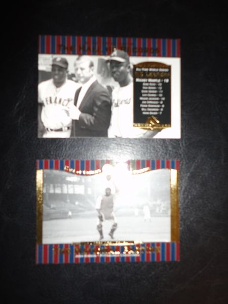 ** 2 Upper Deck Baseball Cards - Mickey Mantle & Josh Gibson **