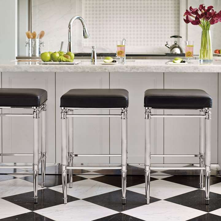 Awesome Bar Stools Particularly Like The Raw Edge Of Marble Countertop Bradenton Height Backless Stool 30 H Seat Domestic Science