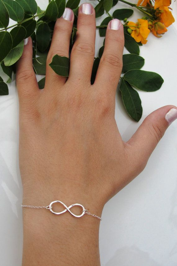 Sterling Silver infinity Bracelet, everyday Infinity Bracelet, infinity jewelry, everlasting lover, enternity, gift for BFF, Perfect Gift via Etsy