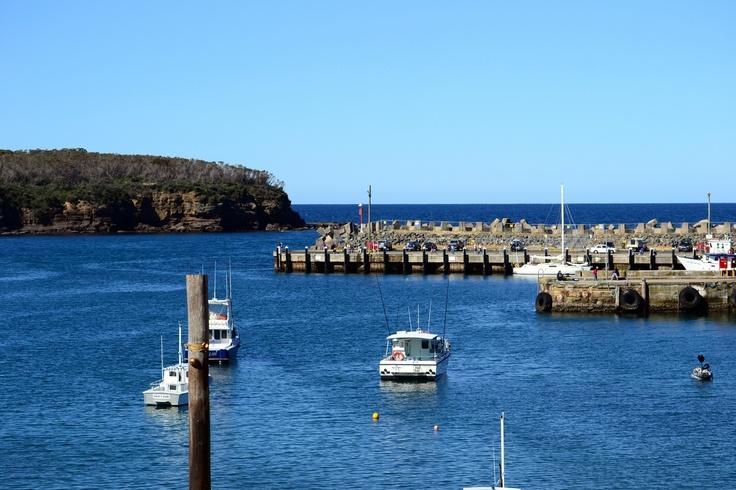 Lots of  boats at Ulladulla - on the way to Batemans Bay