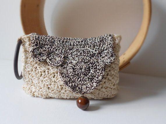 Crochet Bag crochet clutch clutch purse by VannalisaScafaria