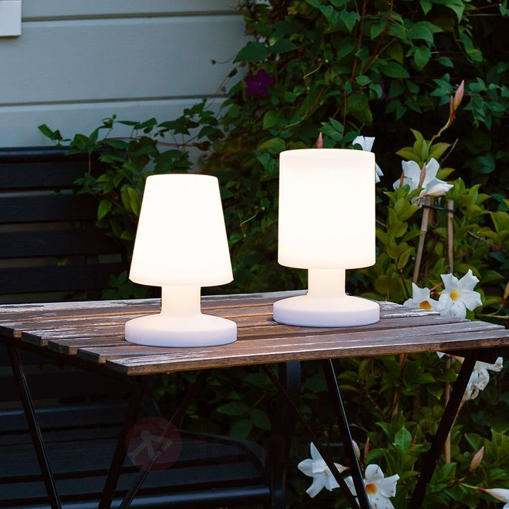 Biała lampa stołowa LED Lora na baterie 8029184