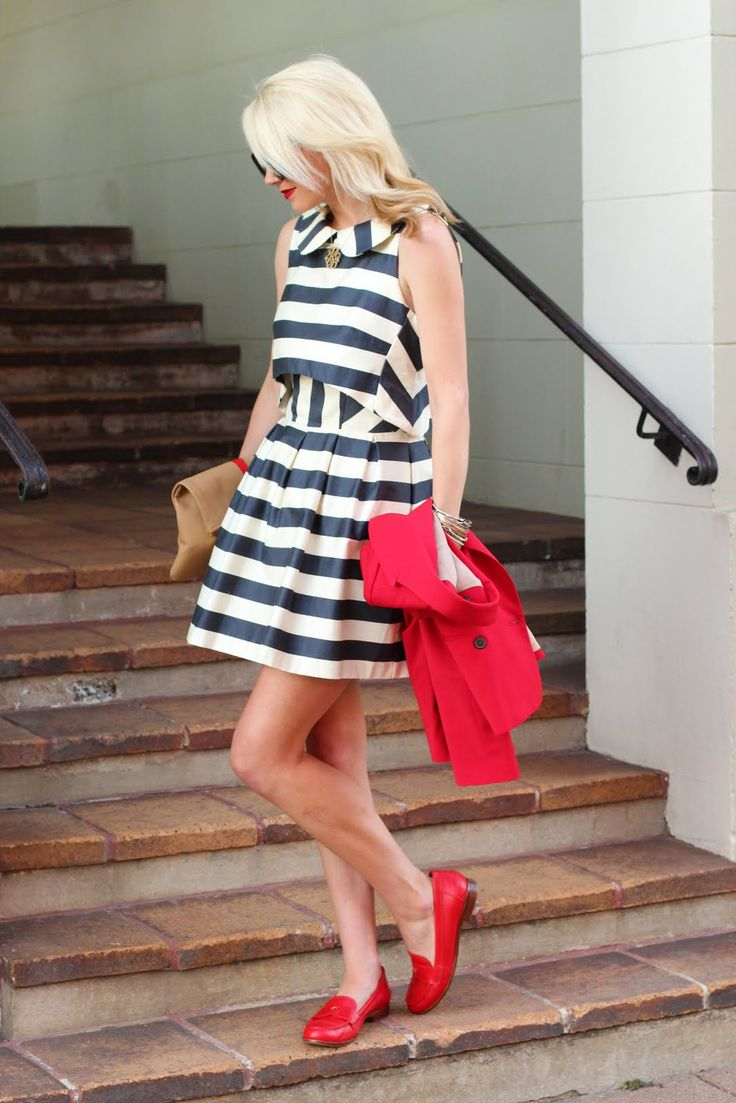 NauticalAtlantic Pacific, Fashion, Red Flats, Red Shoes, Tory Burch, Black White, 4Th Of July, Fall Trends, The Dresses
