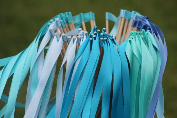 Set of 125 Wedding Ribbon Wands - Party streamers - Party Decorations Wedding Decoration Ceremony on Etsy, $100.00