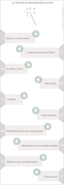 Infografía 10 trucos de decoración | DecoracionDe-INTERIORES.com