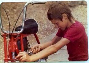 Brian Canham with his first mini bike